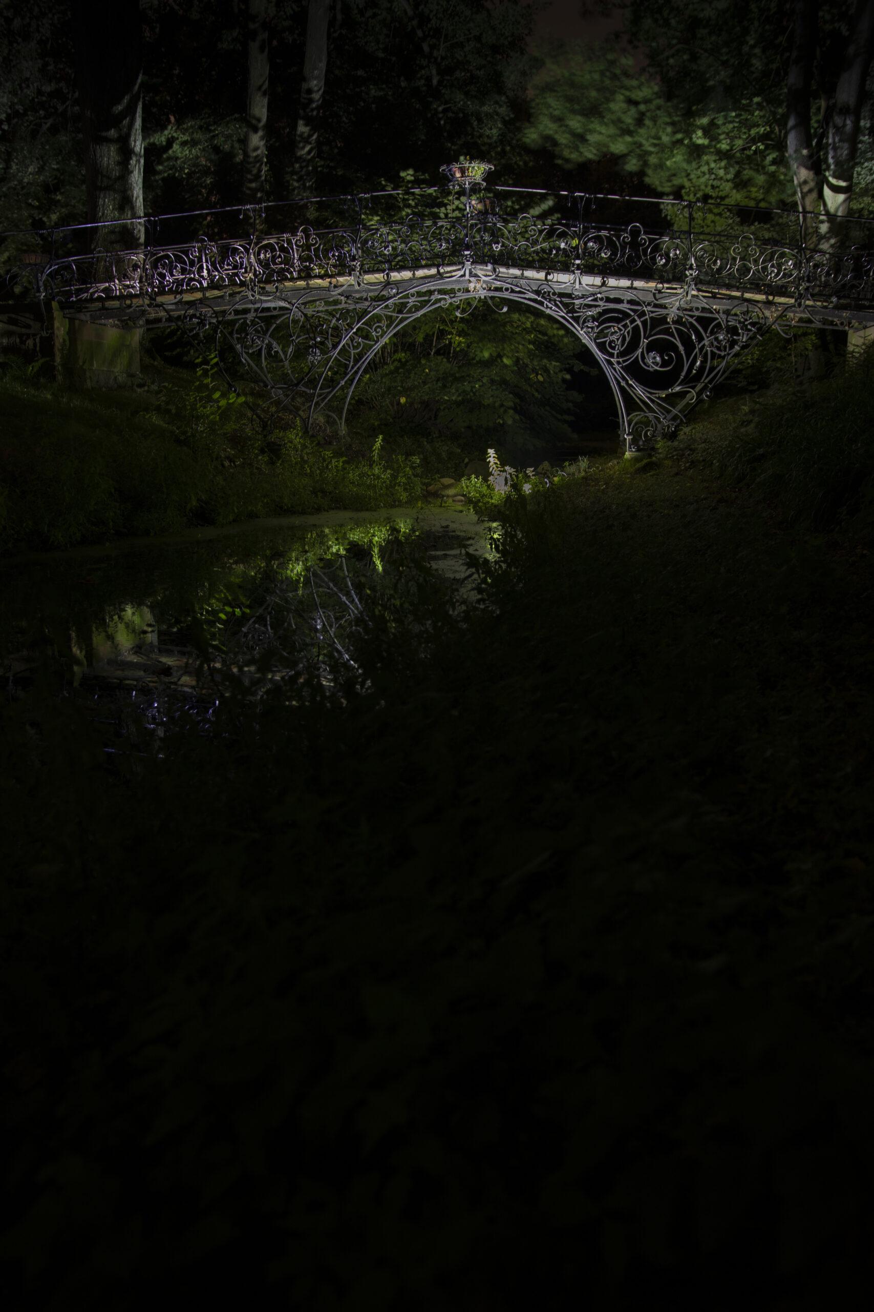 Knut Sander - Eiserne Brücke Ohlsdorfer Friedhof 17.09.2021 - Ohlsdorfer Friedhof Fußgängerbrücke Südteich